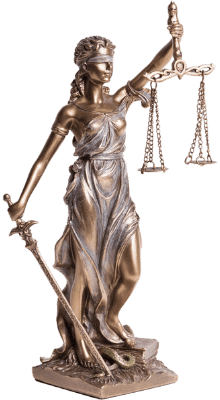 Scales of justice statue.